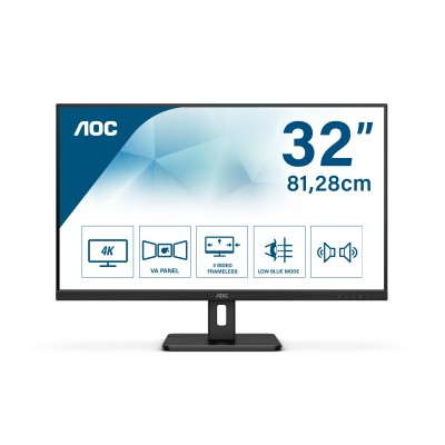 "AOC Essential-line U32E2N LED display 80 cm (31.5"") 3840 x 2160 Pixel 4K Ultra HD Nero"