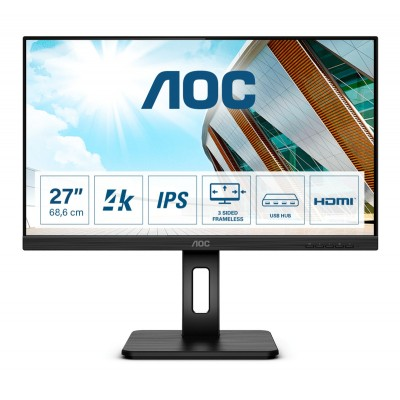 "AOC U27P2 LED display 68,6 cm (27"") 3840 x 2160 Pixel 4K Ultra HD Nero"